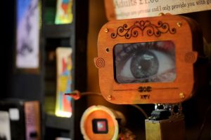 Steampunk palm reading machine at LockHouse escape games