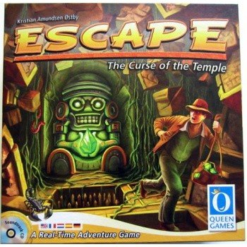 the front cover of the board game escape!