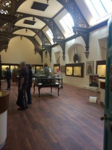 Interior of the first room of the Whipple Museum in Cambridge